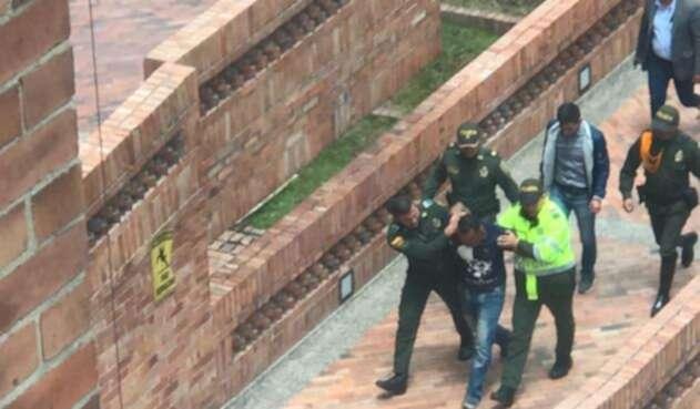 La captura del sospechoso del tiroteo en la Gobernación de Cundinamarca
