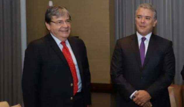 Canciller Carlos Holmes y presidente Iván Duque