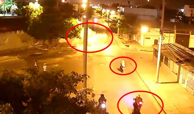 La Policía en Cartagena siguiendo a alias El Papa