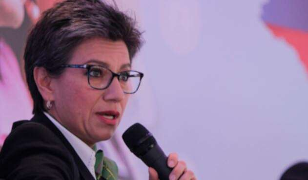 Claudia López, congresista, en Bogotá