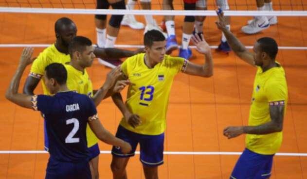 Colombia medalla de plata en Voleibol Masculino