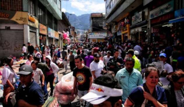 El sector de comerciantes en la calle 13 con Caracas, en el centro de Bogotá
