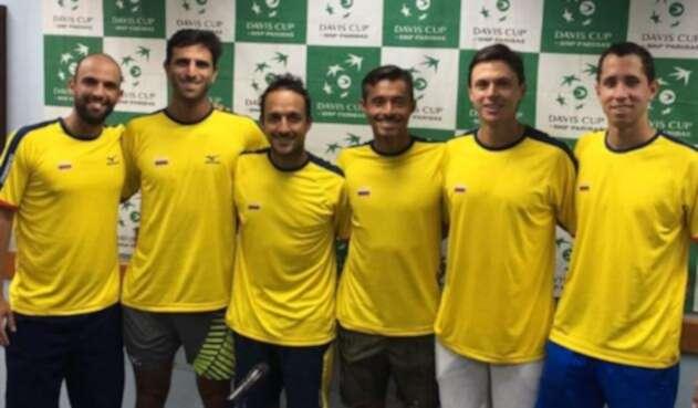 Selección Colombia de Copa Davis que estará en el enfrentamiento ante Argentina