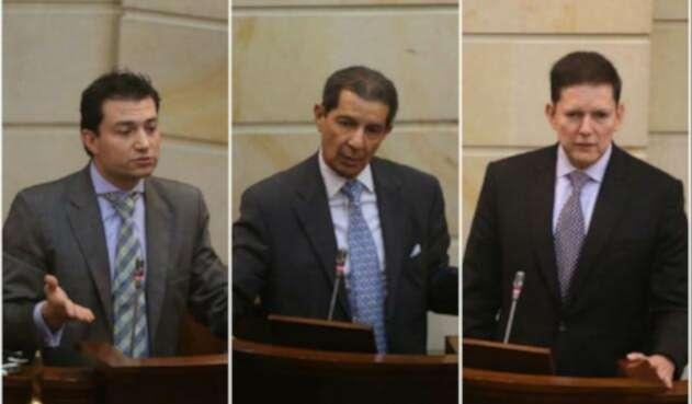Felipe Córdoba, José Félix Lafaurie y Wilson Ruiz, candidatos Contraloría