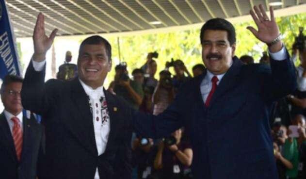Rafael Correa y Nicolás Maduro.