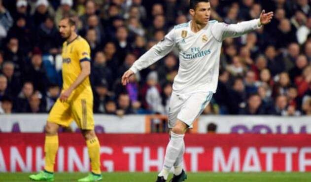 Cristiano Ronaldo anotó con una chilena