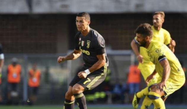 Cristiano jugando con la Juventus de Turín