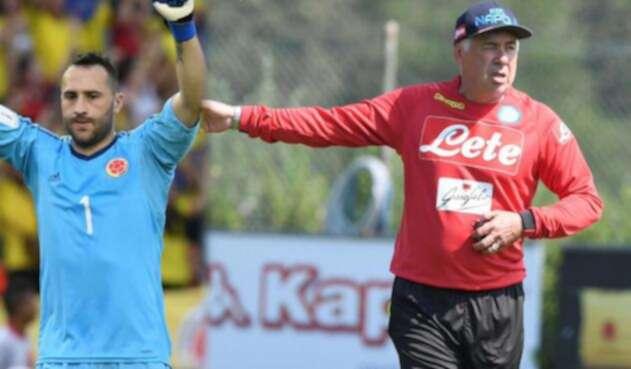 David Ospina, arquero de Colombia llega al conjunto dirigido por Carlo Ancelotti.