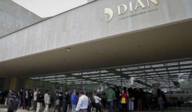 La sede de la Dian en Bogotá