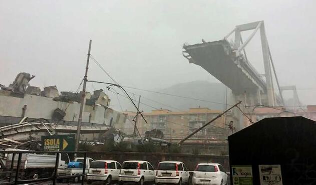 Desplome de puente en Génova deja 11 muertos