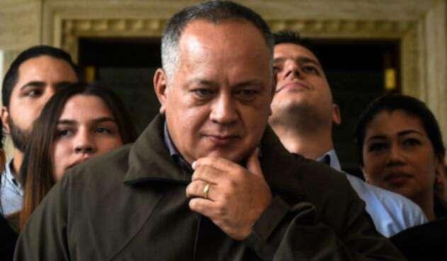 Diosdado Cabello, presidente de la Asamblea Nacional Constituyente, en Caracas