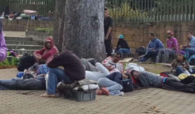 Venezolanos en las calles de Bucaramanga.