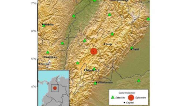 El temblor se sintió en el municipio de Lenguazaque