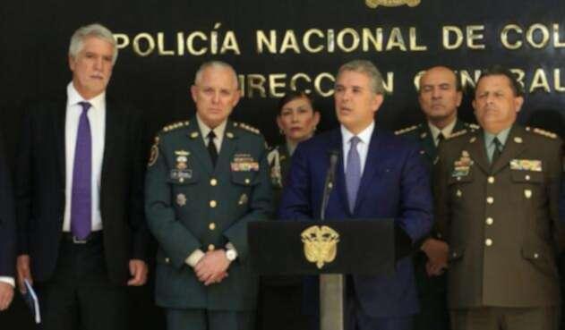 Iván Duque y Enrique Peñalosa en consejo de seguridad en Bogotá