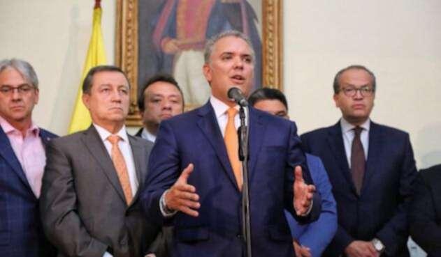 El presidente Iván Duque en el Congreso de la República