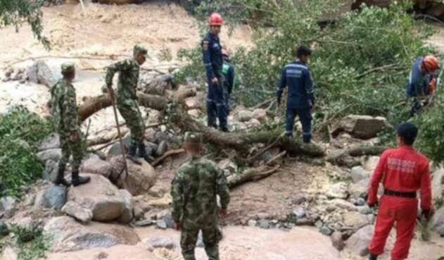 El Ejército apoyando las labores de seguridad en Mocoa