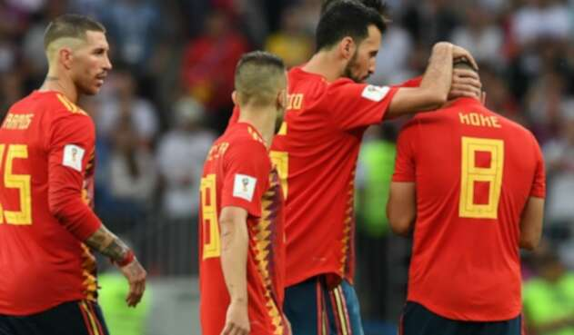 Selección de España - Sergio Ramos, Sergio Busquets y Koke
