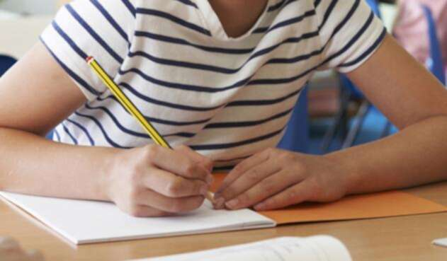 Una estudiante cumpliendo sus deberes