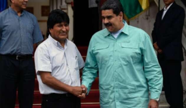 Evo Morales y Nicolás Maduro.