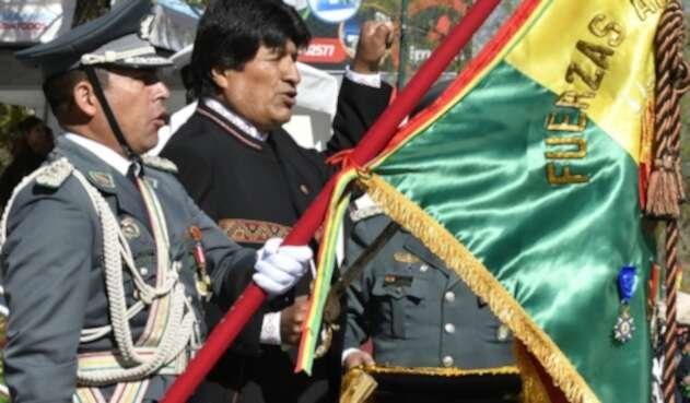 Evo Morales, presidente de Bolivia, en elDía de las Fuerzas Armadas bolivianas