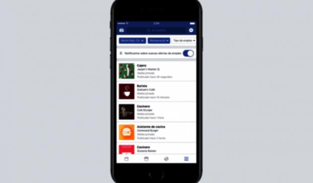 Facebook Jobs, la bolsa de empleo de Facebook