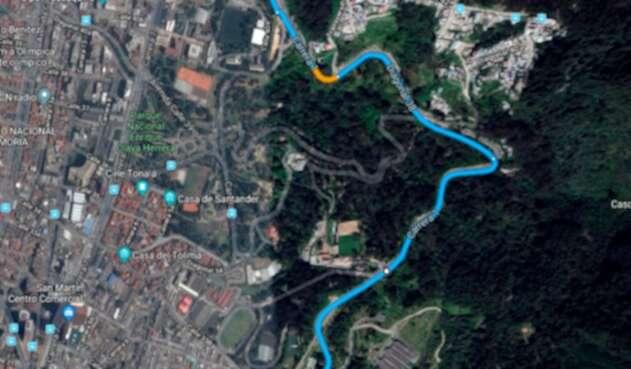 Imagen tomada de Google Maps de parte de la Avenida Circunvalar, en Bogotá