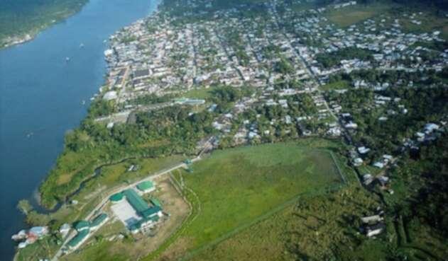 Imagen aérea de Guapi, Cauca