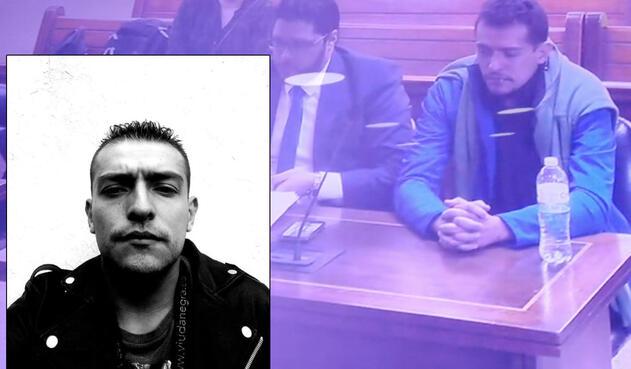Hugo Alejandro Zabaleta Sossa, implicado en el crimen (Fotografía y en audiencia)