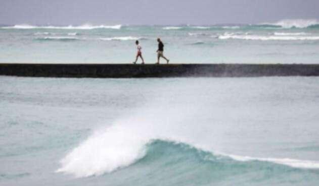 Huracán Lane llegó a Hawai