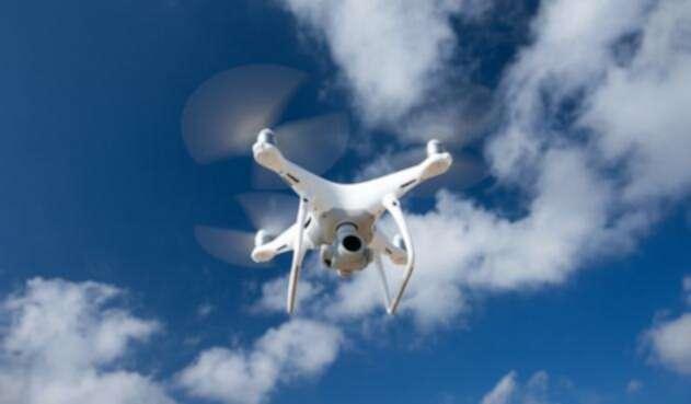 Un drone en funcionamiento