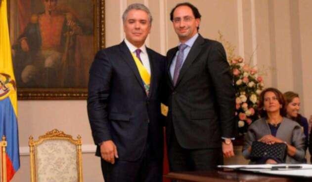 Posesión de José Manuel Restrepo como ministro de Comercio, Industria y Turismo
