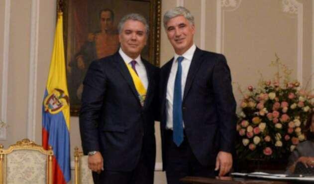 Iván Duque y Juan Pablo Uribe Restrepo, ministro de Salud