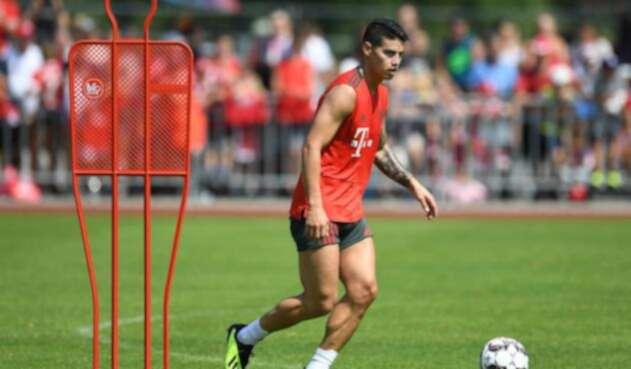 James Rodríguez retomó entrenamientos con el Bayern Múnich