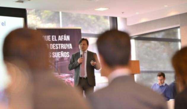 Juan Pablo Bocarejo, secretario de Movilidad del Distrito, en el lanzamiento de la campaña 'Que el afán no destruya los sueños'