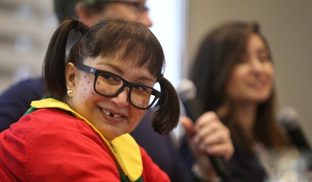 María Antonieta de las Nieves, la Chilindrina, en Bogotá
