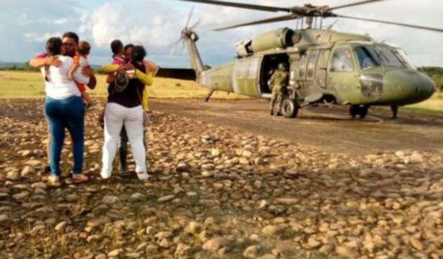 Liberación secuestrados por el ELN en Arauca