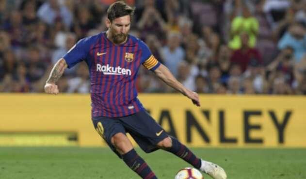Lionel Messi marcó doblete con Barcelona