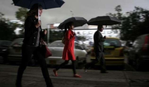 Lluvias, vientos y frío en Bogotá