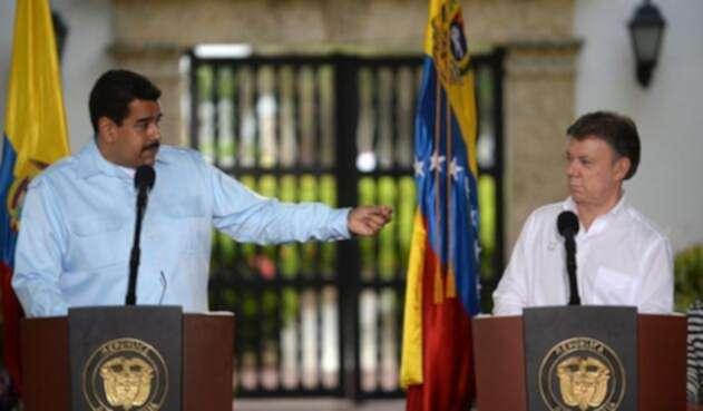 Nicolás Maduro y Juan Manuel Santos.