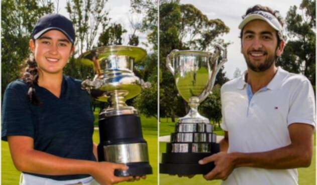 María José Bohórquez y Juan Francisco Mejía, campeones nacionales de golf