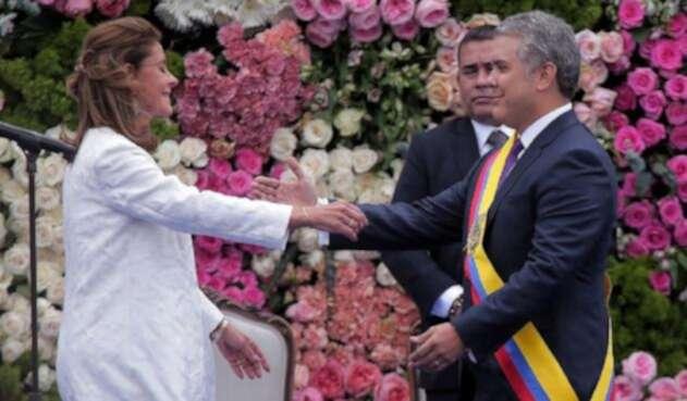 Marta Lucía Ramírez se posesionó como la primera vicepresidenta de la historia de Colombia