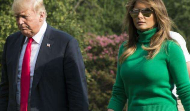 Donald Trump y su esposa Melani.