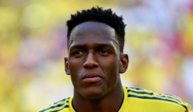 Yerry Mina con la Selección Colombia