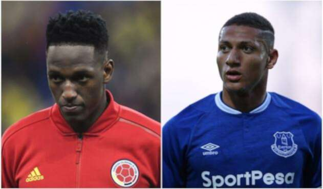 Yerry Mina y Richarlison