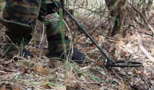 Zona de minas antipersona