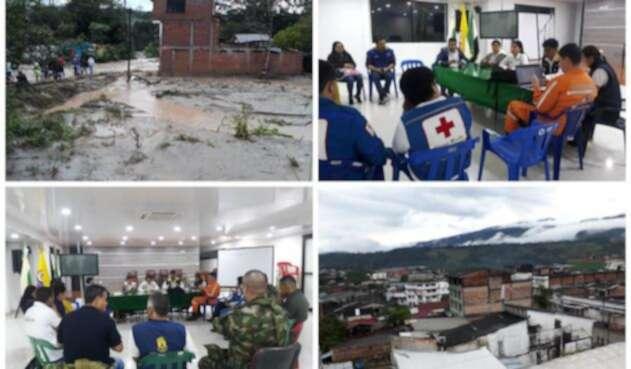 Las imágenes de la situación en Mocoa difundidas por la UNGRD