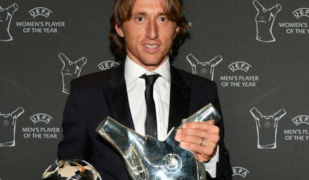 Luka Modric tras recibir el premio a mejor jugador UEFA