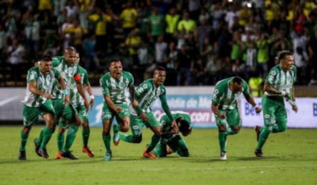Atlético Nacional celebrando