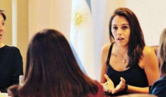 La ministra argentina Natalia Spinuzza