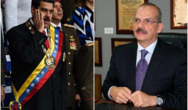 Nicolás Maduro, presidente de Venezuela, y Alejandro Rebolledo, magistrado del Tribunal Supremo de Justicia de Venezuela en el exilio